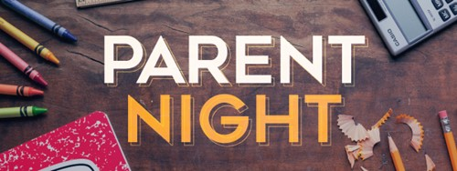 Parent Night Tonight! 6:00-7:00 pm Click Here