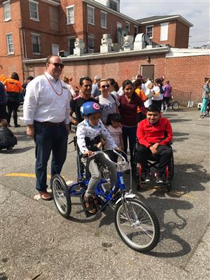 A Special Second Grader Receive's Adaptive Bike