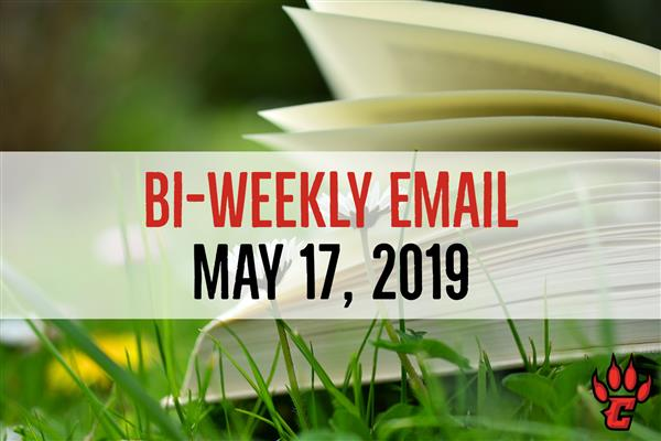 Community Bi-Weekly Newsletter - May 17, 2019