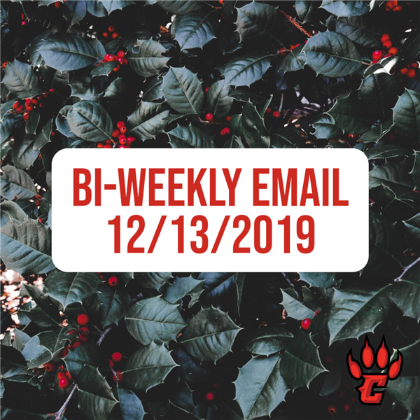 Community Bi-Weekly Newsletter - December 13, 2019