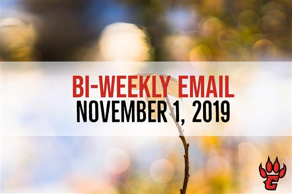 Community Bi-Weekly Newsletter - November 1, 2019