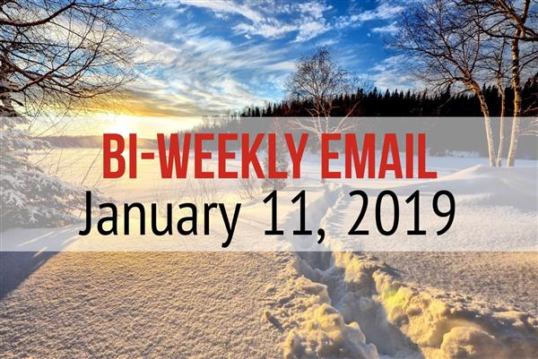 Community Bi-Weekly Newsletter - January 11th