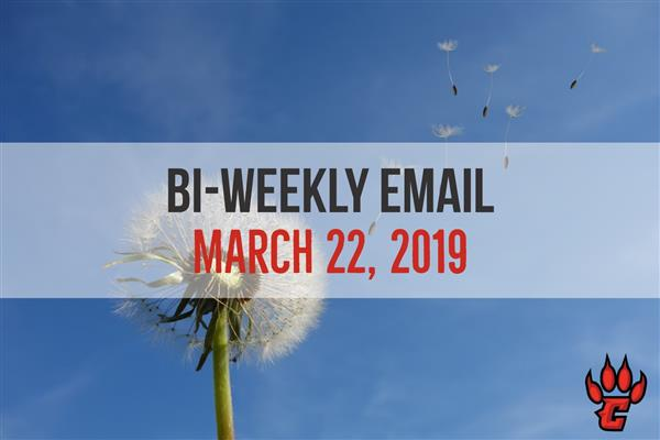 Community Bi-Weekly Newsletter - March 22, 2019