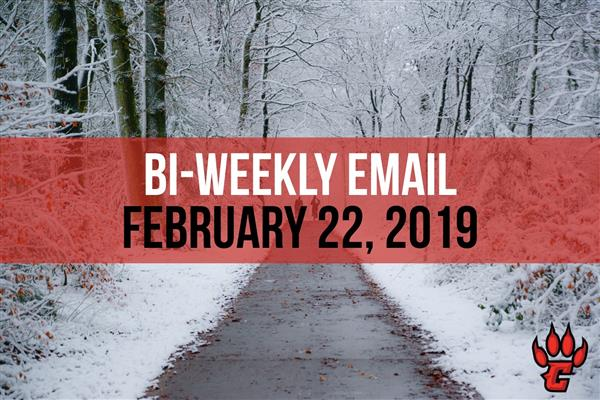 Community Bi-Weekly Newsletter - February 22, 2019