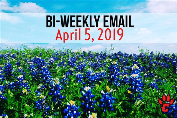 Community Bi-Weekly Newsletter - April 5, 2019