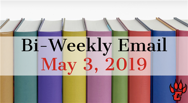 Community Bi-Weekly Newsletter - May 3, 2019