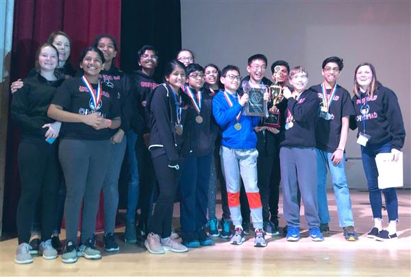 Conrad's Science Olympiad Team won First Place at State Tournament