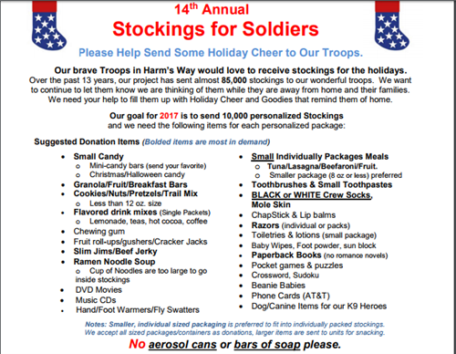 492dcaaf02b Stockings for Soldiers Drive