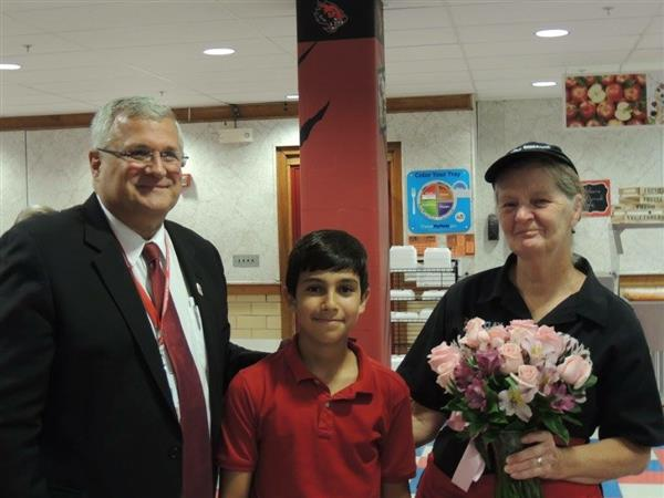 Conrad Cafeteria Worker Honored for Saving Student