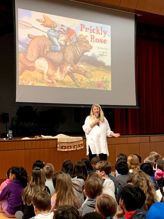 Author Shelley Gill visits Cooke!