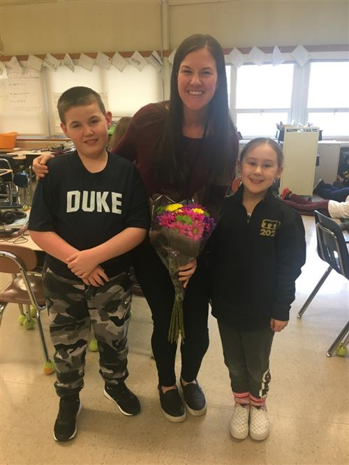 Congratulations to Ms. Donahue for being named Teacher of the Year 2020!