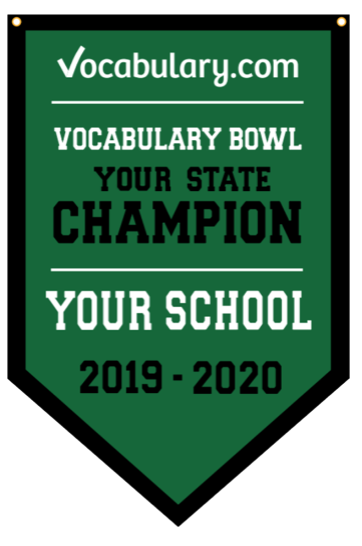 H.B. du Pont Middle School is the 2019–2020 Vocabulary Bowl Delaware Champion