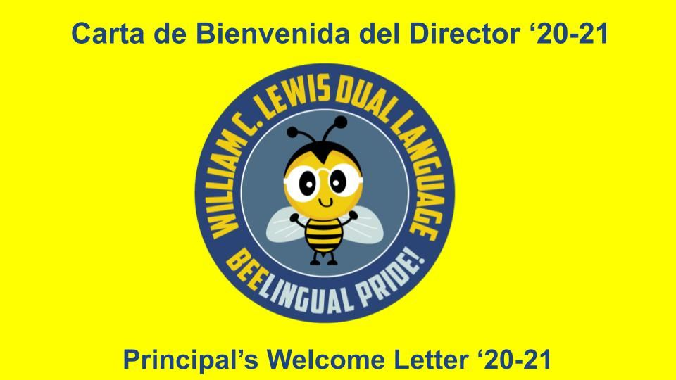 Welcome Letter from Dr. Phelps / Carta de Bienvenida del Dr. Phelps