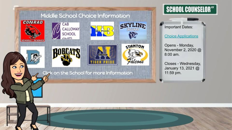Middle School Choice Information