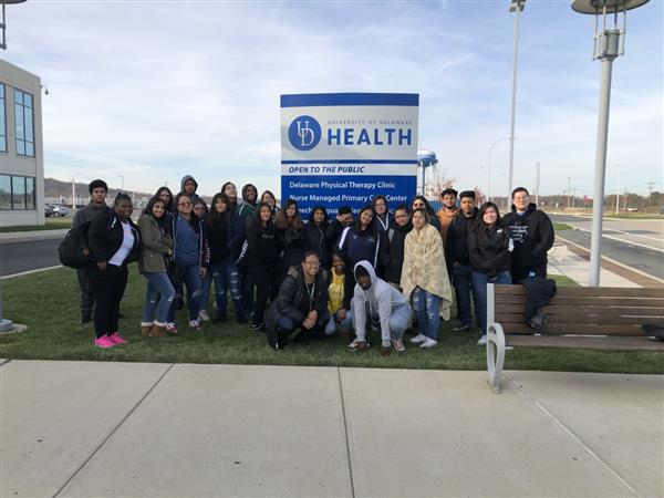 Anatomy & Physiology and Forensics classes visited the Cadaver Lab at the Univ. of DE