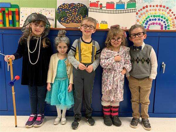 NSE Kindergarteners Celebrate the 100th Day of School