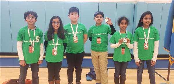 NSE Lego League team, the Green Brickbusters, rocks it!