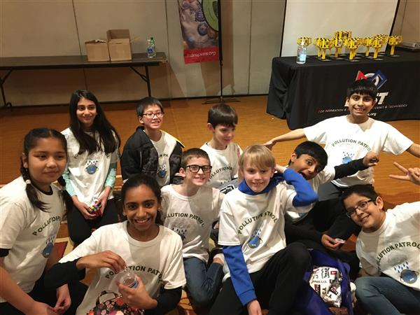 NSE Lego League team, Pollution Patrol, soars in their competition!