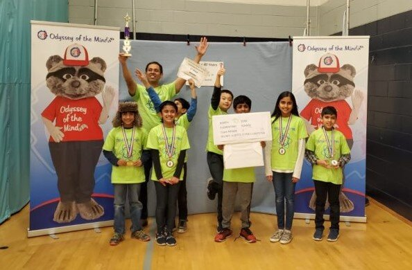 NSE Odyssey of the Mind team earns FIRST PLACE in this weekend's competition!