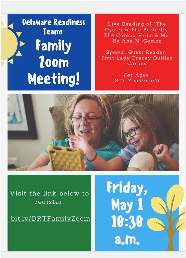 Zoom Family Meeting with First Lady Carney on Friday!