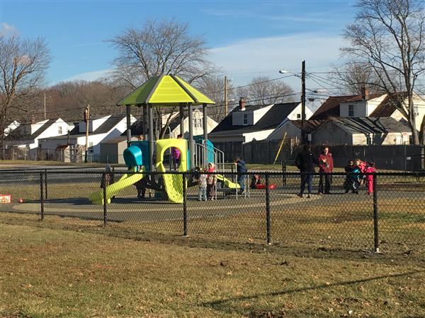 EYP classes at Baltz get a new playground!