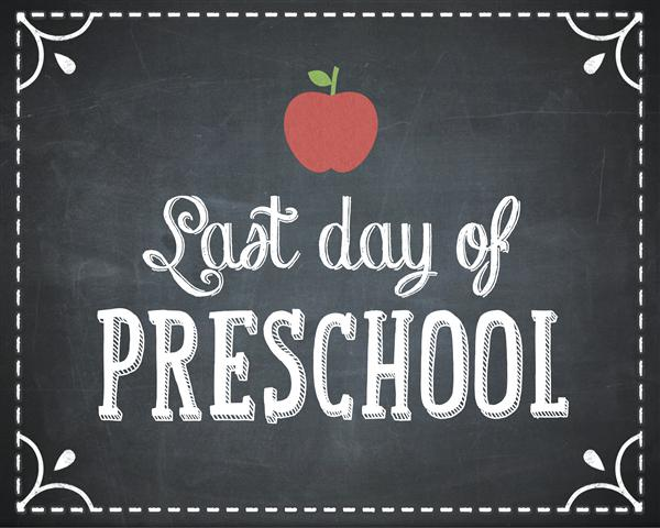 Last Day of Preschool for Half Day 3s!