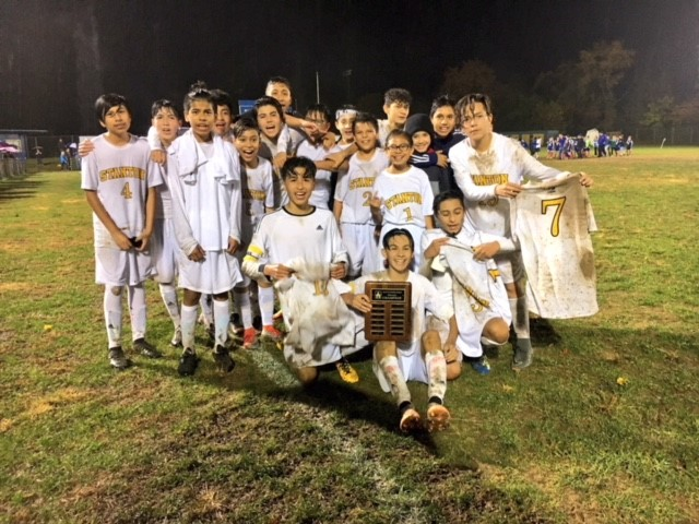 Stanton's Soccer Team wins Red Clay District Middle School Soccer Championship