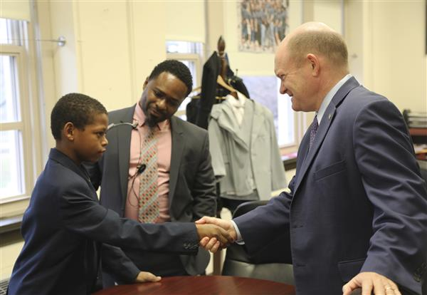 Senator Chris Coons came to visit today. Check out the pictures.