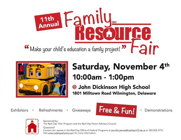 Family Resource Fair and Literacy Festival November 4