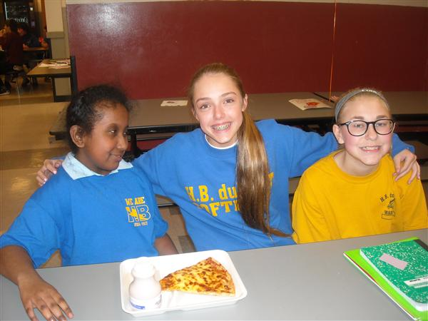 H. B. Students Participate in No One Eats Alone Day