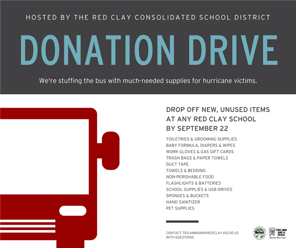 Hurricane Relief Drive Launched by Red Clay