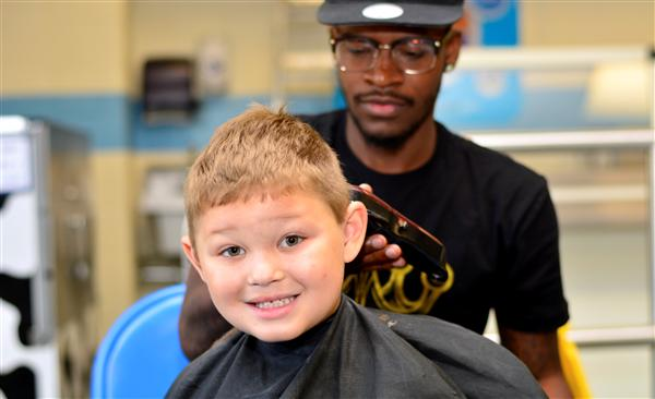 Baltz Students Receive Free Haircuts